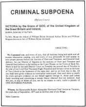Criminal Subpoena