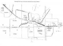 Map of murder scene